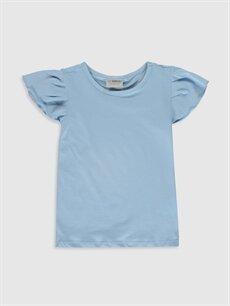 Mavi Kız Çocuk Pamuklu Basic Tişört 0S4994Z4 LC Waikiki