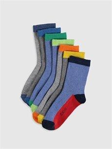 Çok Renkli Erkek Çocuk Soket Çorap 7'li 0S5226Z4 LC Waikiki