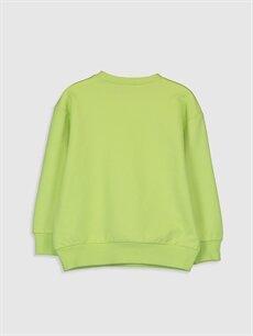 %81 Pamuk %19 Poliester  Kız Çocuk Baskılı Sweatshirt