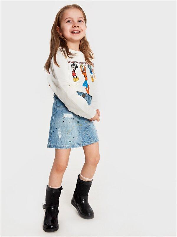 Kız Çocuk Disney Baskılı Sweatshirt - LC WAIKIKI