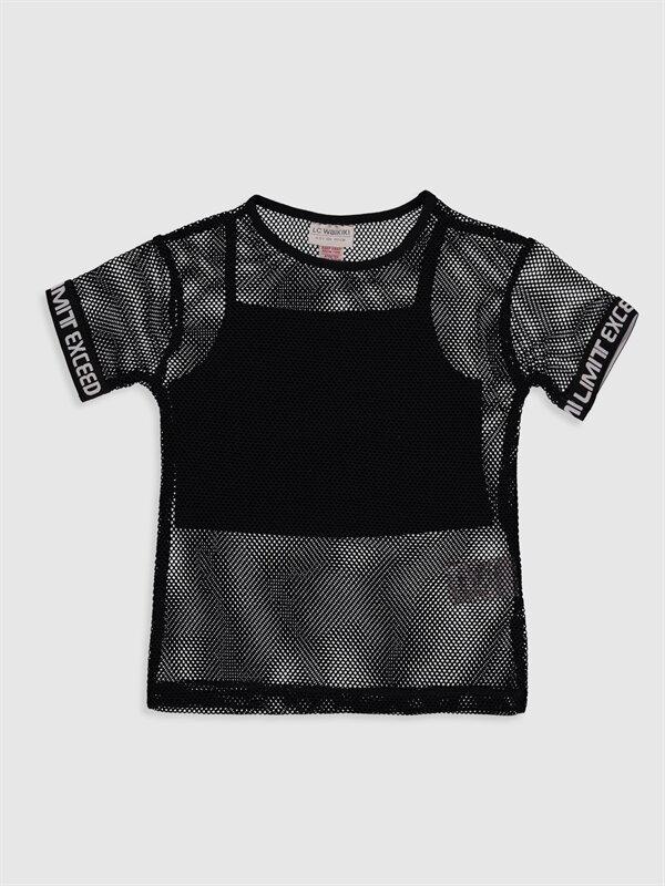Kız Çocuk File Tişört ve Atlet - LC WAIKIKI