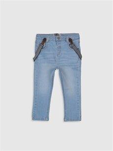 İndigo Erkek Bebek Slım Fıt Jean Pantolon ve Pantolon Askısı 0S0119Z1 LC Waikiki