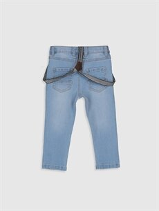 %99 Pamuk %1 Elastan %80 Polyester %20 ELASTODİEN Dar Erkek Bebek Slım Fıt Jean Pantolon ve Pantolon Askısı