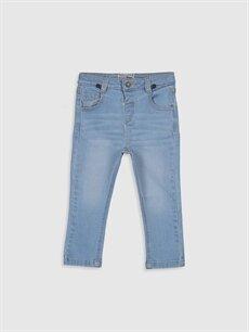 Erkek Bebek Erkek Bebek Slım Fıt Jean Pantolon ve Pantolon Askısı