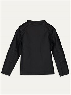 %100 Poliüretan %100 Polyester Ceket Erkek Bebek Deri Görünümlü Ceket