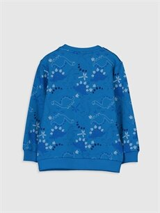 %60 Pamuk %40 Polyester  Erkek Bebek Baskılı Sweatshirt