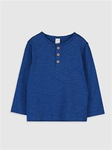 Mavi Erkek Bebek Basic Pamuklu Tişört 0S0333Z1 LC Waikiki