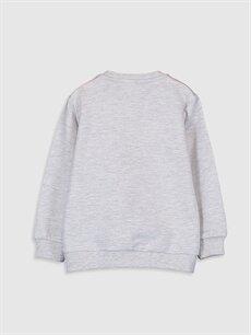 %58 Pamuk %42 Polyester  Erkek Bebek Yazı Baskılı Sweatshirt