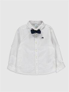Beyaz Erkek Bebek Oxford Gömlek ve Papyon 0S0427Z1 LC Waikiki