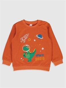 Erkek Bebek Erkek Bebek Baskılı Sweatshirt ve Pantolon