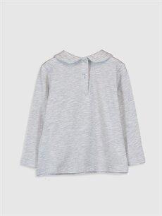 %98 Pamuk %2 Polyester Standart Düz Uzun Kol Tişört Diğer Kız Bebek Pamuklu Basic Tişört