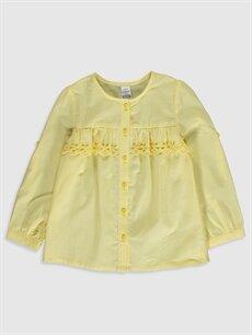 Sarı Kız Bebek Poplin Gömlek 0S3612Z1 LC Waikiki