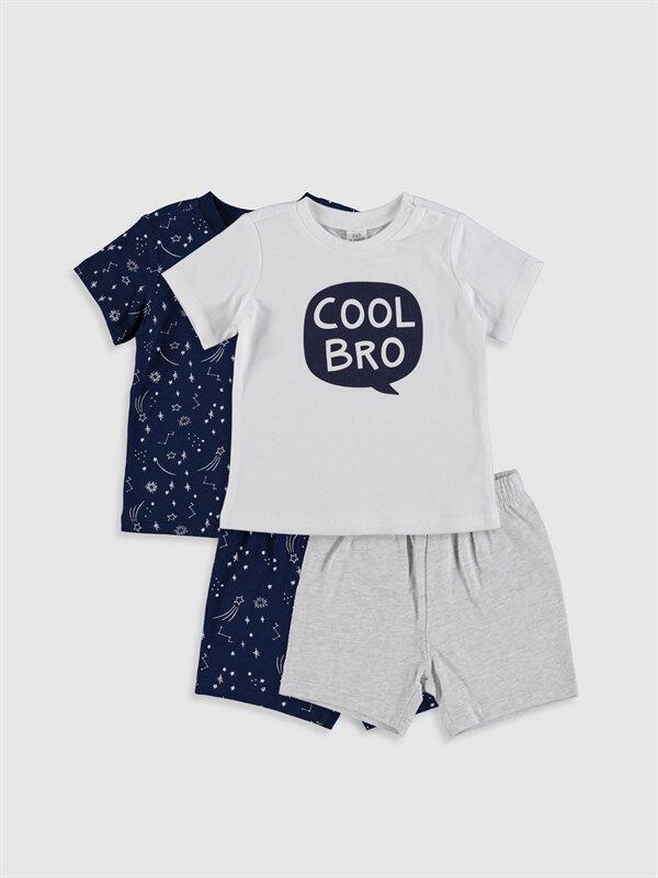 Erkek Bebek Desenli Pijama Takımı 4'lü - LC WAIKIKI