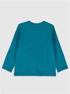 %100 Pamuk Baskılı Uzun Kol Tişört Bisiklet Yaka Normal Erkek Bebek Yazı Baskılı Pamuklu Tişört