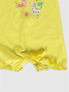 Sarı Kız Bebek Desenli Tulum 2'li