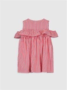 %100 Viskoz  Kız Bebek Çizgili Elbise