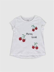 Beyaz Kız Bebek Baskılı Pamuklu Tişört 0S6262Z1 LC Waikiki