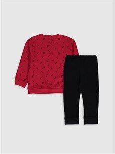 %100 Pamuk %100 Pamuk  Kız Bebek Sweatshirt ve Pantolon Takım