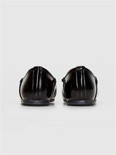 Kız Bebek Aplikeli Babet Ayakkabı
