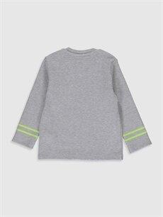 %49 Pamuk %49 Polyester %2 Elastan Normal Düz Uzun Kol Tişört Bisiklet Yaka Erkek Bebek Basic Tişört