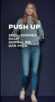 push up şekillendiren jean