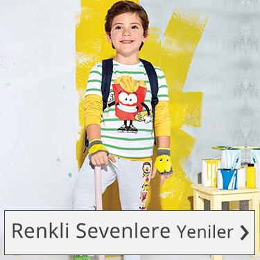 erkek çocuk renkli kıyafetler